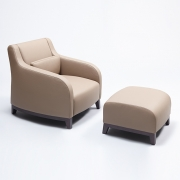 Collins armchair + footstool